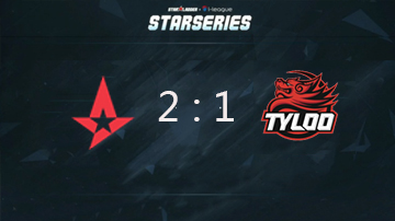 SLi联赛S2比赛视频:TyLoo vs. Astralis BO3