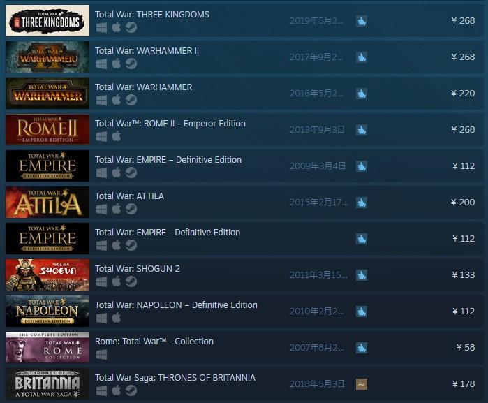 世嘉全面上调《全战》系列国区价格 Steam新售价达268